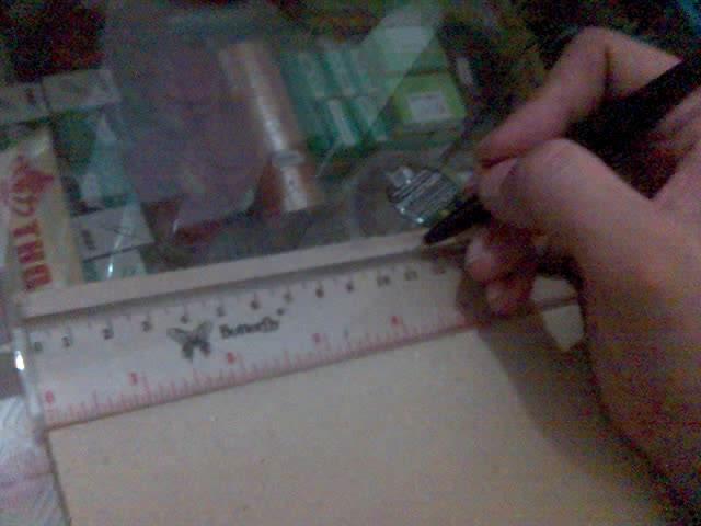 pada bagian 23,75 cm tandai dengan menempatkan titik yang nantinya ...