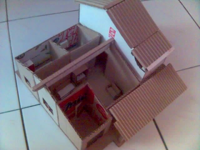 Membuat Miniatur rumah dari kardus   bli blogen