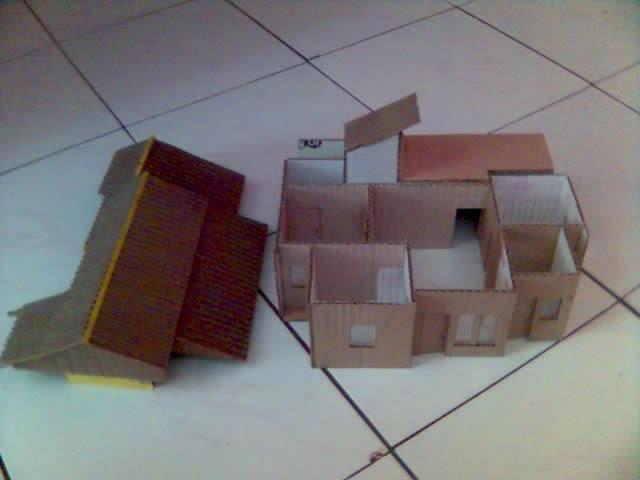 cara membuat maket berbahan dasar kardus dhita widya