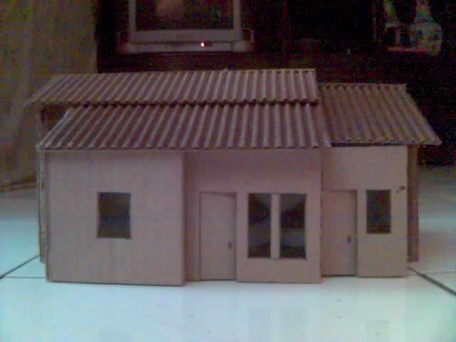 Miniatur Rumah dari kardus | Kendali Hama